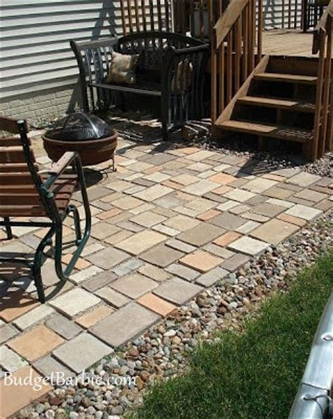 budget our patio using quikrete walk maker mold to