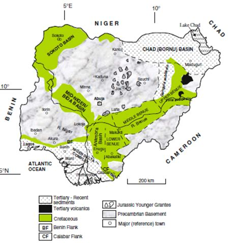 diagram of map of nigeria diagram showing the map of nigeria images how to guide