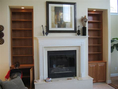Fireplace Mantels With Shelves On The Side by Black Fireplace With White Mantel And Shelf Above Between