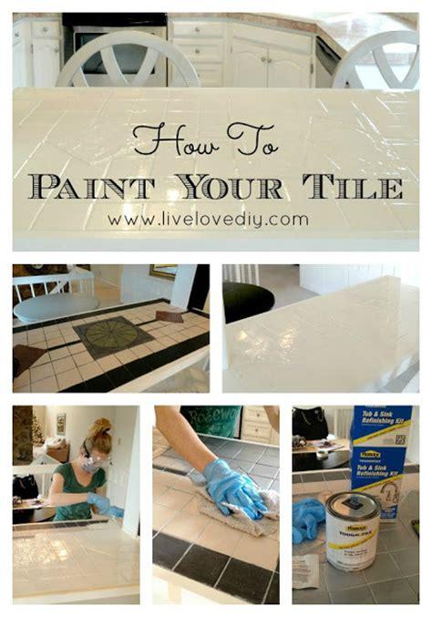 bathroom tile paint kit livelovediy how to paint tile countertops