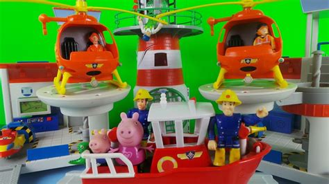Rescue Peppa Pig fireman sam firefighter saves the day the peppa pig rescue for children