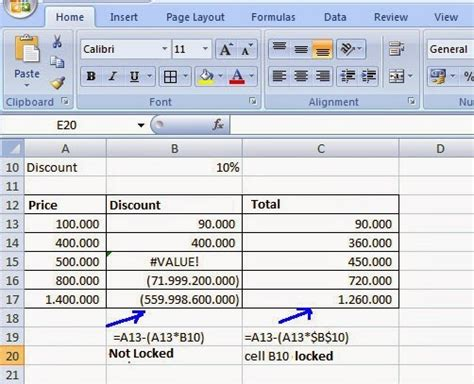excel tutorial lock cells how to lock excel cell with formula and without formula in