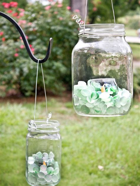 backyard lanterns create glass lanterns for the backyard hgtv
