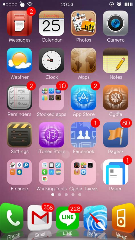 Themes Hd Ios 8 | lucerna hd flat ios 7 และ ios 8 concept theme สำหร บ