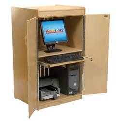 locking computer cabinet locking computer cabinet by kaplan early learning company