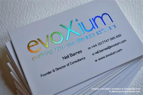 how to make a hologram card holographic foil business card evoxium