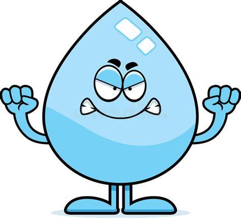 clipart pioggia goccia di acqua arrabbiata fumetto illustrazione
