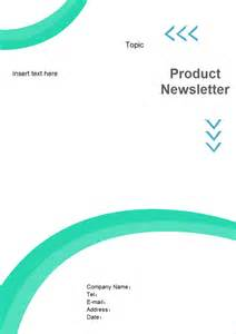 newsletter cover page free newsletter cover page templates