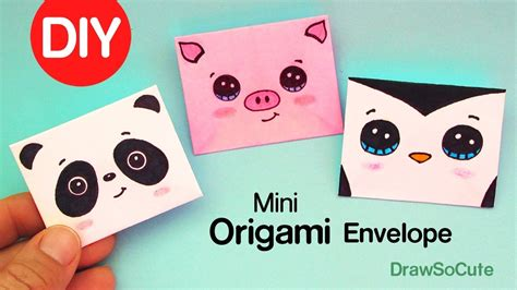 drawsocute mini waterfall card template how to make a mini origami envelope easy my crafts