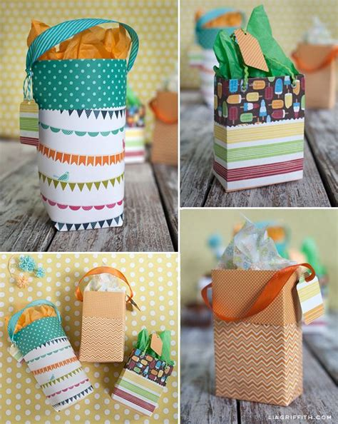 Gift Bags From Scrapbook Paper - diy paper gift bags custom gift bags custom gifts and