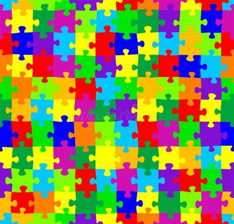 seamless jigsaw puzzle pattern stock vector illustration