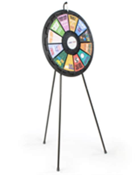 Floor Standing Prize Wheels 12 Slot Prize Wheel Template