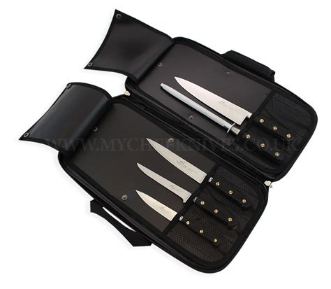 honing kitchen knives sabatier kitchen knife bag 4 knives 1 honing steel