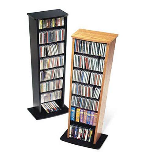 dvd storage tower black slim multimedia storage tower