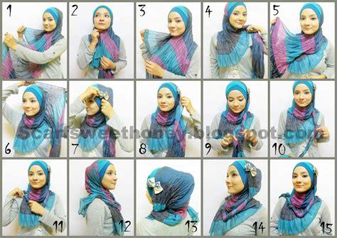 tutorial hijab pashmina rajut hijabista