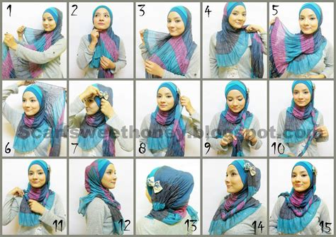 tutorial hijab pashmina fashion hijabista hijab tutorial style pashmina