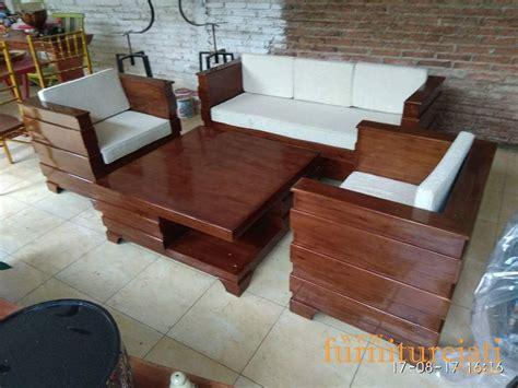 Kursi Tamu Satu Set jual set kursi tamu minimalis box modern korea kayu jati