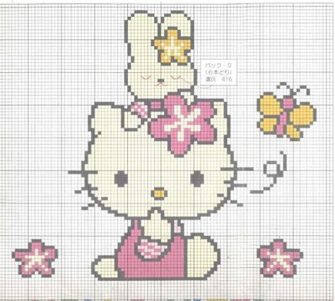 imagenes de kitty en punto de cruz patron punto cruz hello kitty imagui