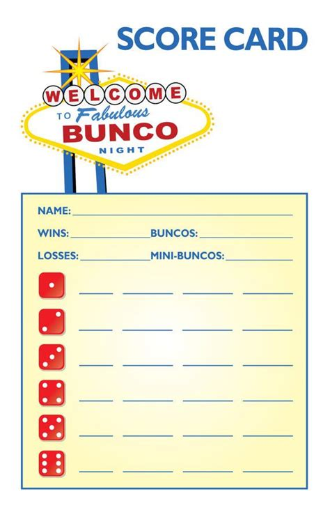 bunco cards templates 17 best images about bunco on bunco