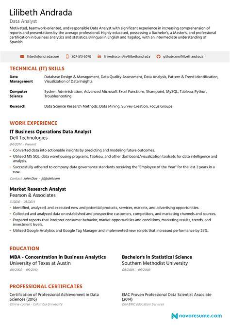 Data Analysis Resume by Resume Data Analysis Talktomartyb
