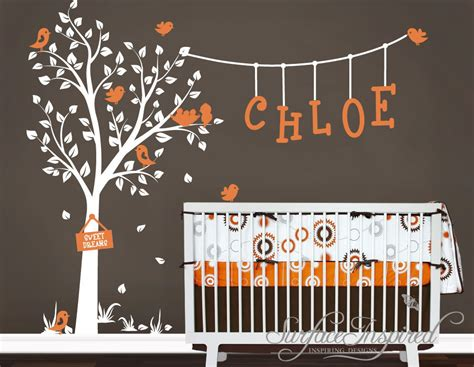 Nursery Wall Name Decals Nursery Wall Decals Garden Tree Wall By Surfaceinspired