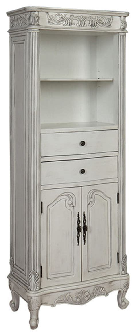72 Inch Tall Traditional Style Linen Cabinet Traditional