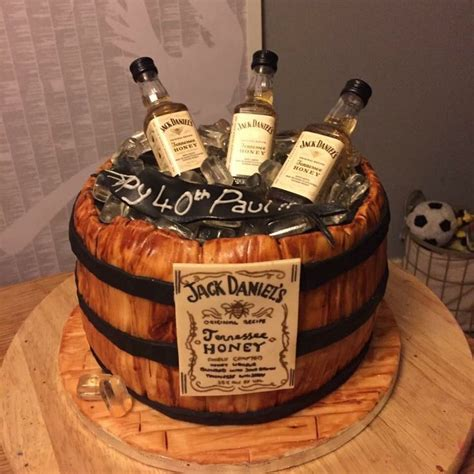 honey jack daniels barrel birthday cake   jack