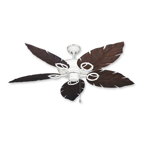 White Leaf Ceiling Fan by Gulf Coast Fans Ceiling Fan In White W