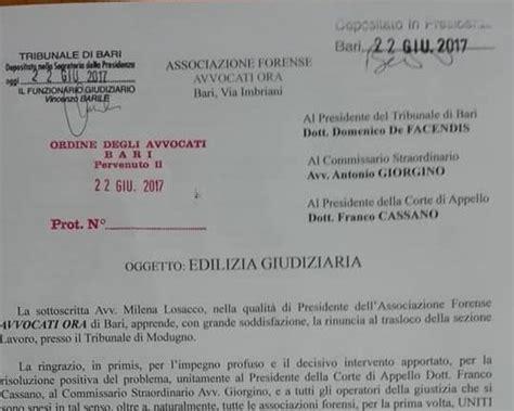 obiettivo lavoro roma sedi bari istanza di avvocati ora per l edilizia giudiziaria