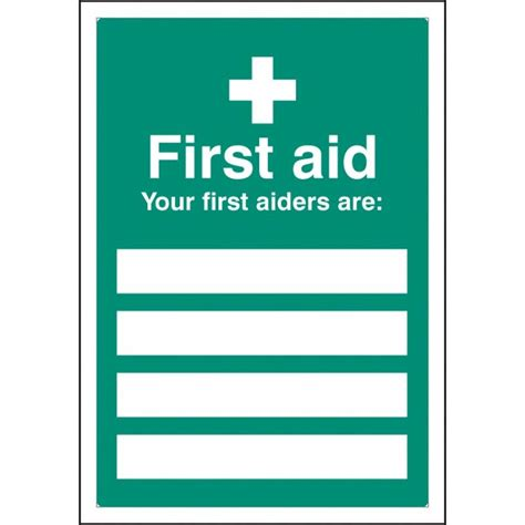your first aiders are signs with a4 printable inserts