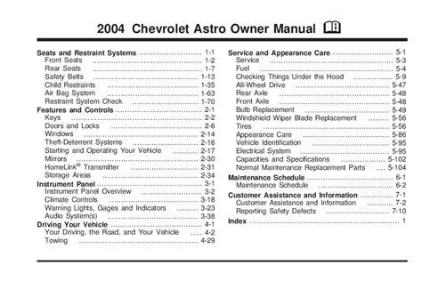 car repair manuals online free 2004 chevrolet astro transmission control service manual 2004 chevrolet astro brake fuse manual 2000 chevy astro van fuse box wiring