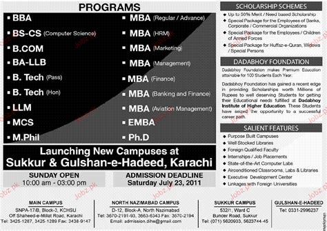 Ba To Mba Programs by Admission Open In Mba Ba Llb Mcs 2018
