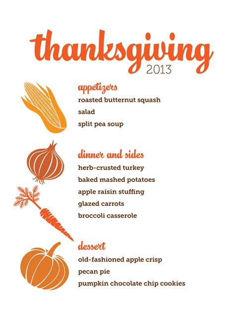 thanksgiving menu template free customizable thanksgiving menus hgtv