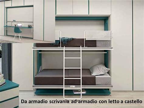 armadio con scrivania letti trasformabili e salvaspazio perfetti per un
