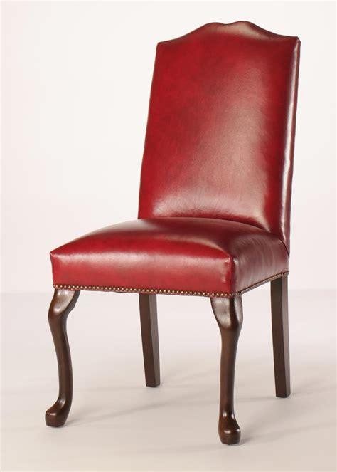 split camel  queen anne dining chair  nailhead trim
