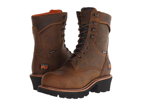timberland logger boots timberland pro 9 quot rip saw logger steel toe wp at zappos
