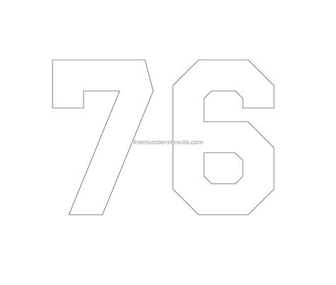 printable jersey numbers free jersey printable 76 number stencil