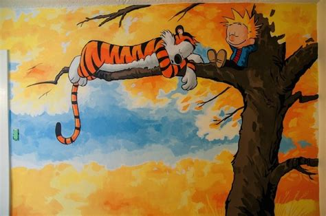 Calvin And Hobbes Wall Mural awesome calvin and hobbes mural painted for a nursery my