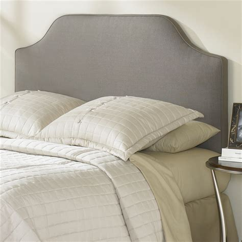 full size bordeaux upholstered headboard in dolphin grey