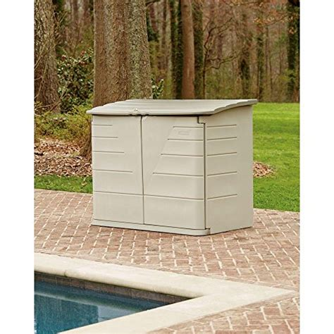 rubbermaid outdoor horizontal storage shed large 32 cu