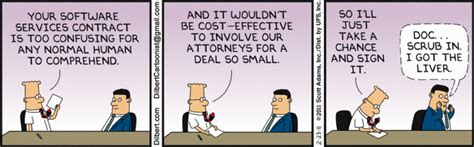 Mba Jargon by Dilbert Nails Lengthy It Contracts
