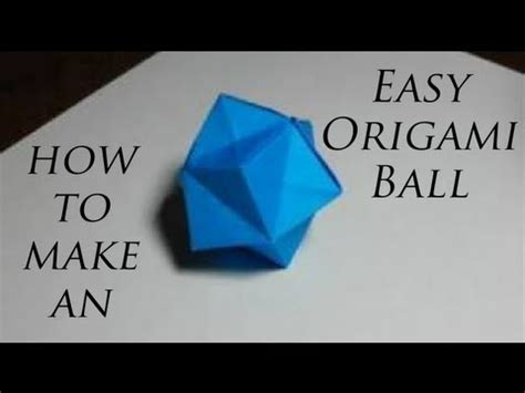 How To Make A Origami Things - how to make an easy origami