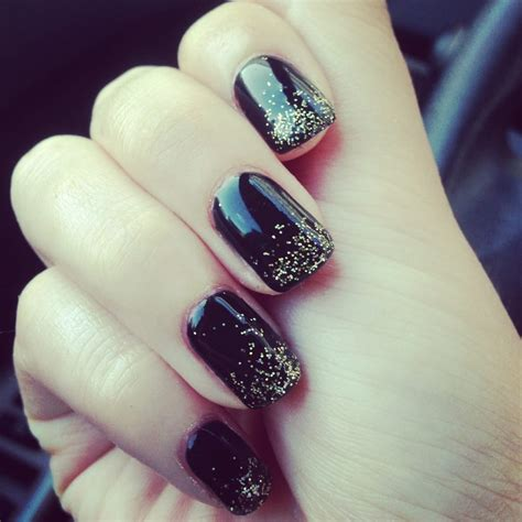 L For Gel Nails by Black Gel Nails With Gold Glitter Ombr 233 Yelp