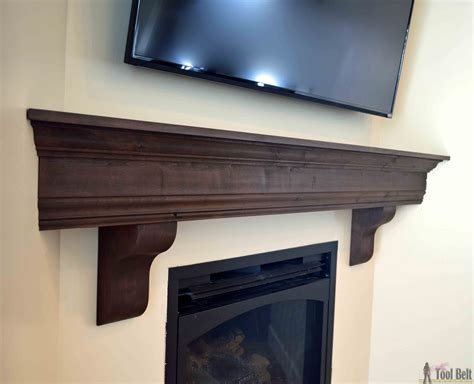 diy fireplace mantel shelf tool belt