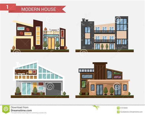 modern home design vector vector flat illustration traditional and modern house