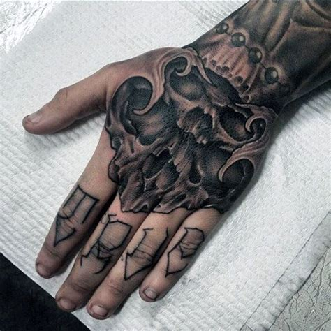 skull tattoo designs for hands 80 skull designs for manly ink ideas