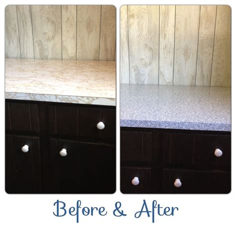 Contact Paper Countertop by Granite Contact Paper Countertops Before After In A