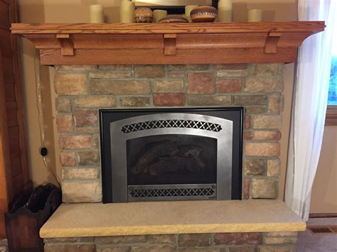 crafted custom quarter sawn oak mantel craftsman
