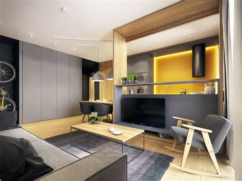 design an apartment modern scandinavian apartment interior design with gray color shade roohome designs plans
