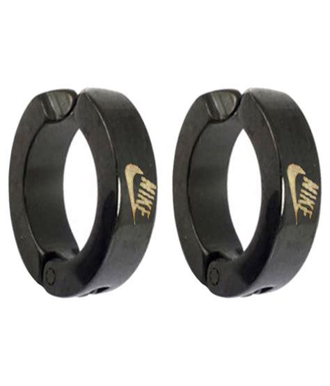 style black nike inspired clip on earring buy